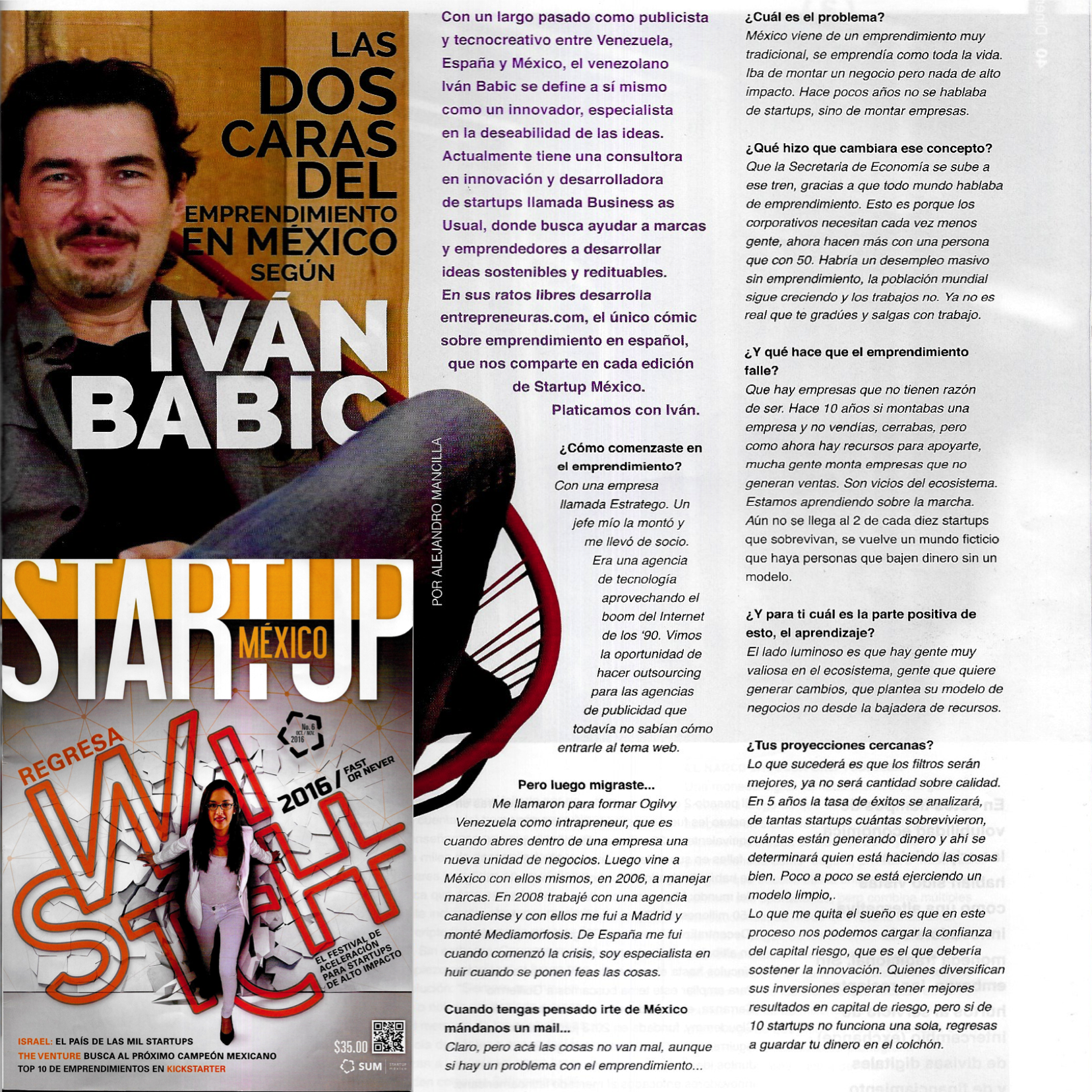 Startup Mexico Magazine - Interview with Ivan Babic