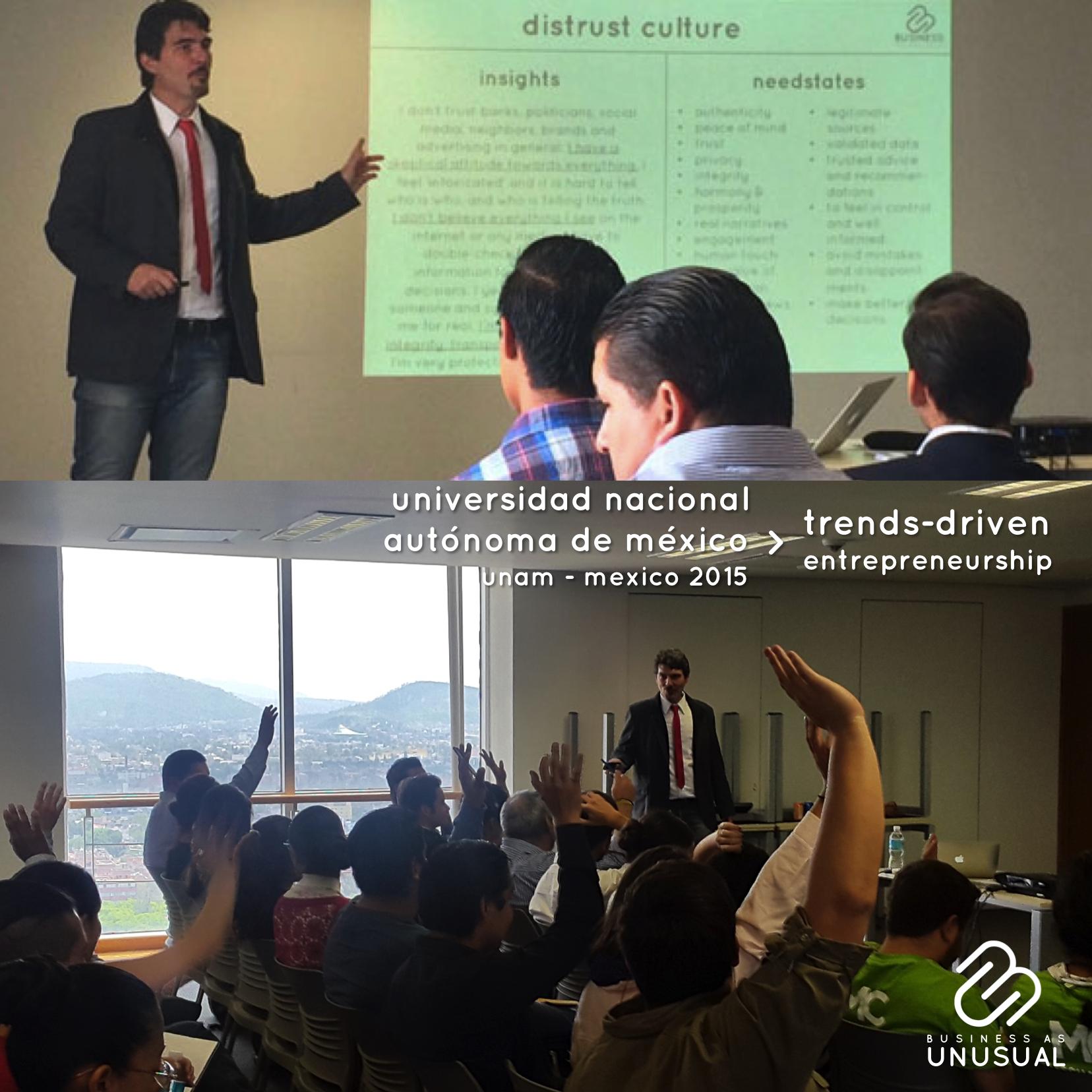 Universidad Nacional Autónoma de México - Trends-Driven Entrepreneurship