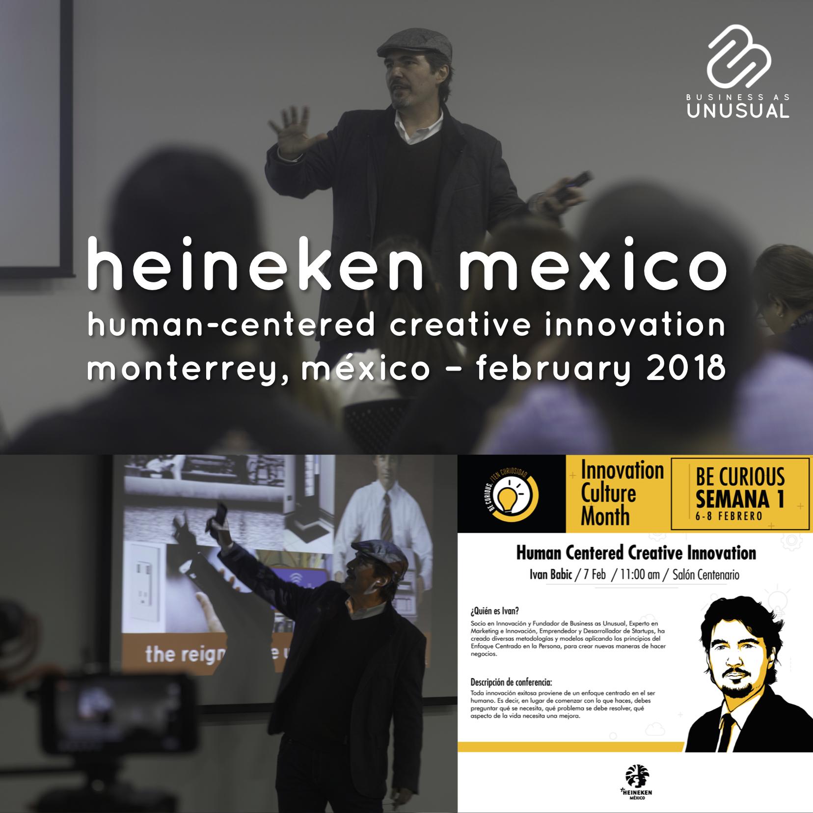 CERVECERÍA CUAUHTÉMOC MOCTEZUMA HEINEKEN MEXICO - Human-Centered Creative Innovation