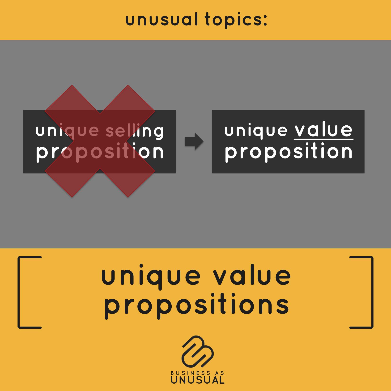 Unique Value Propositions
