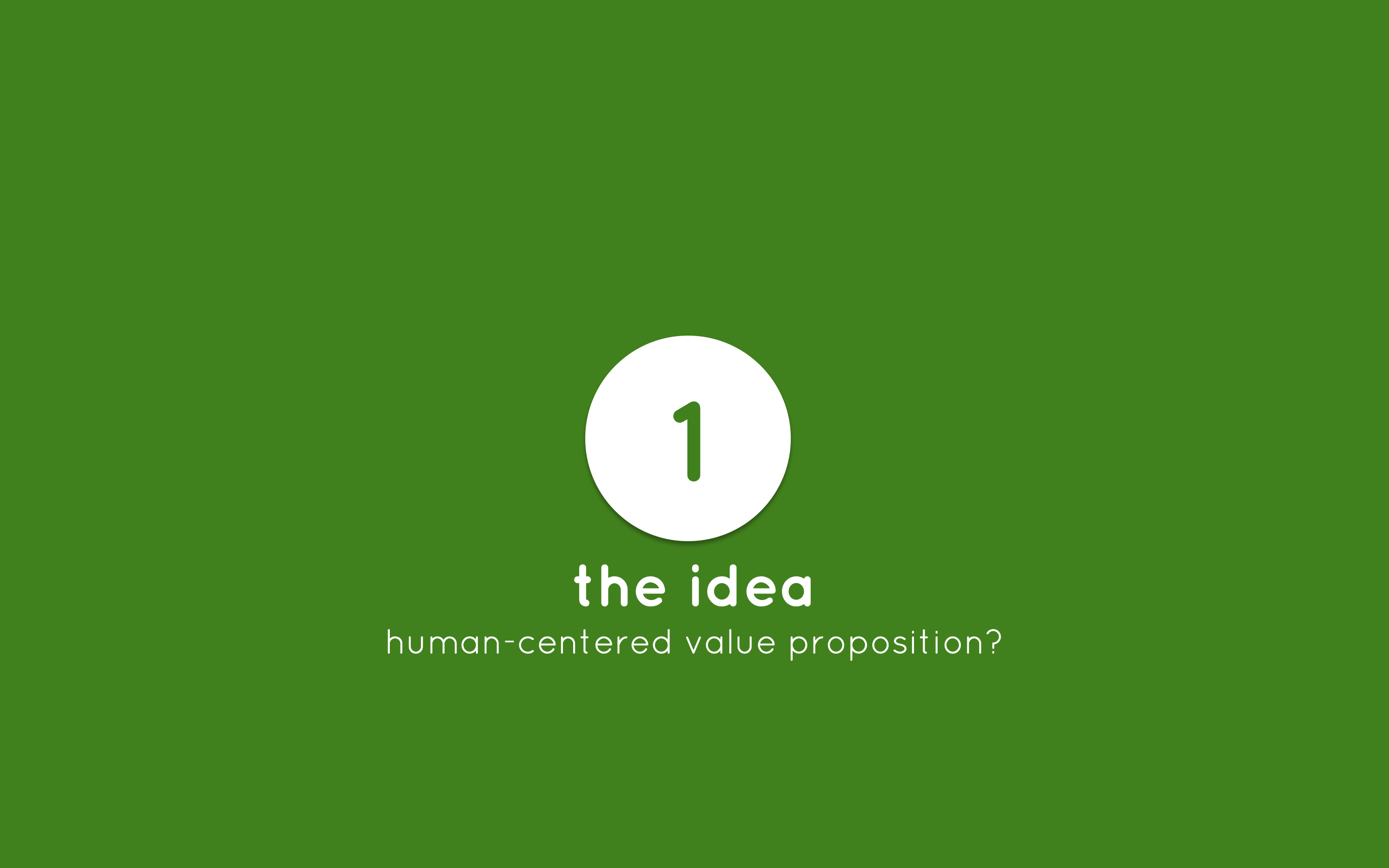 Human-Centered Entrepreneurship step 1