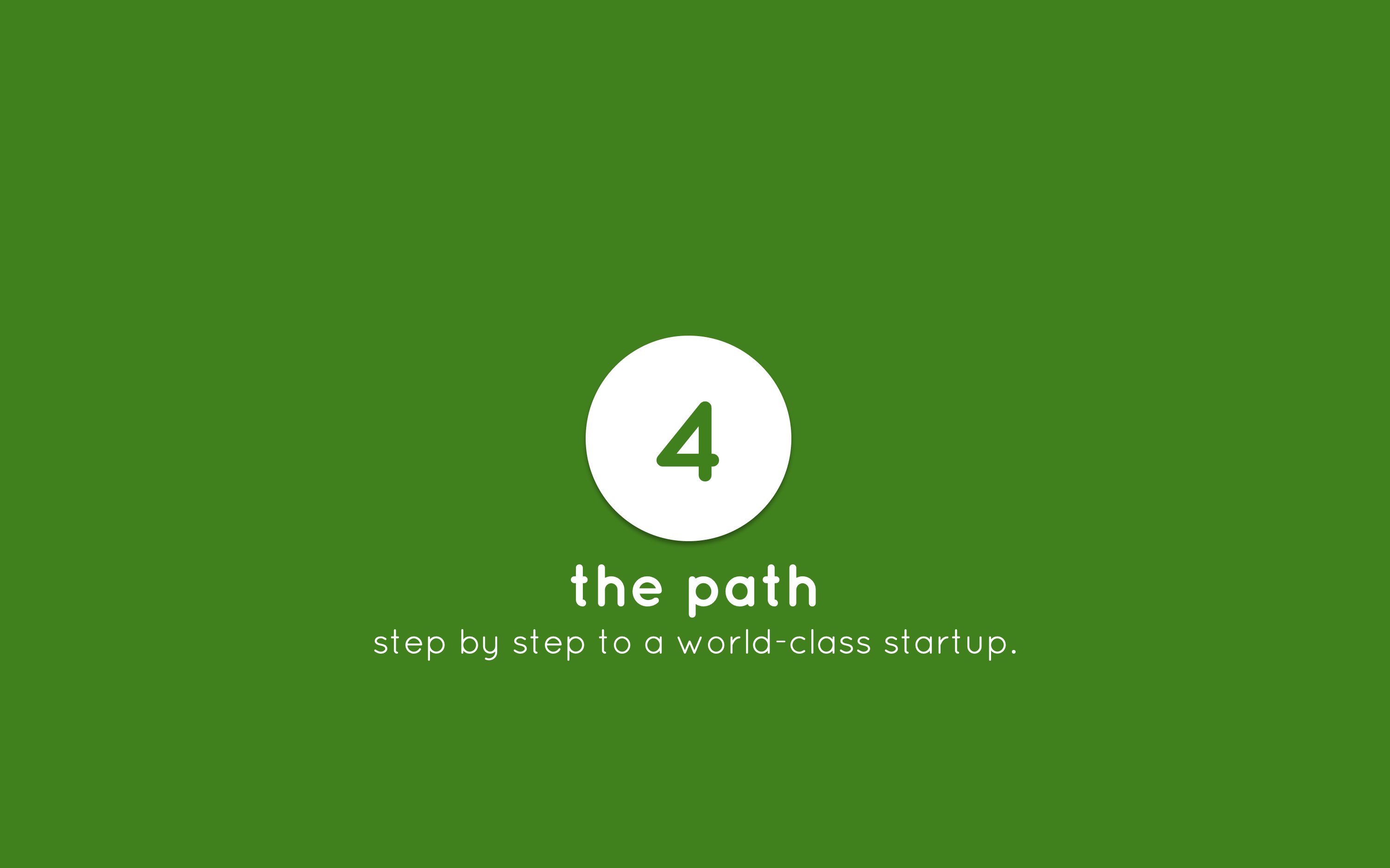 Human-Centered Entrepreneurship step 4 the path