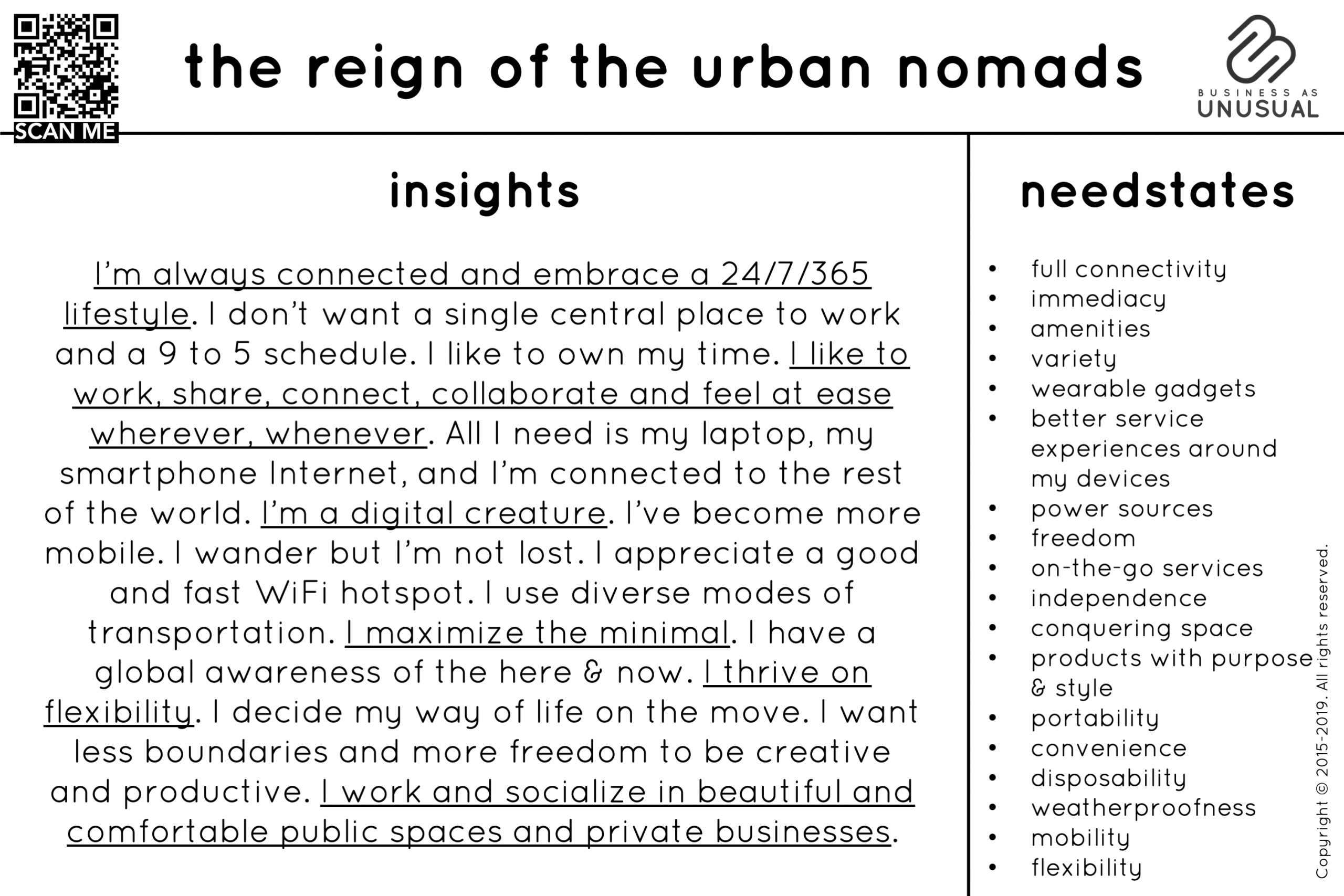 Behavioral Trends - The Reign of the Urban Nomads