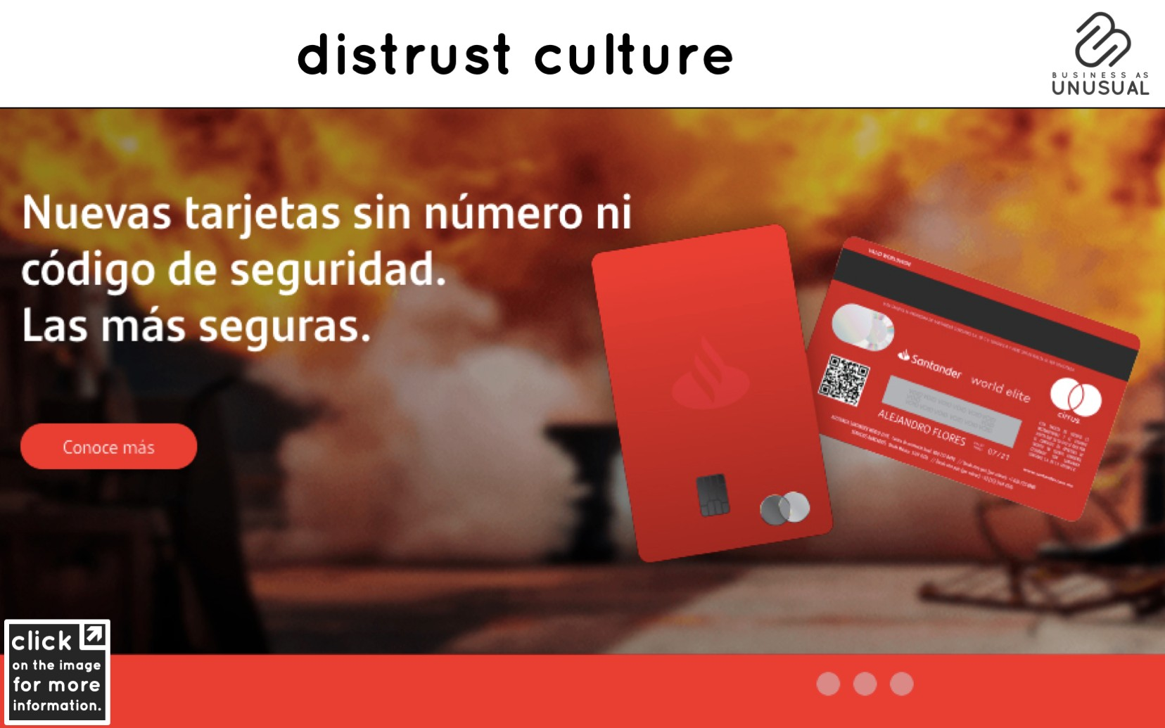 Distrust Culture - Santander Numberless Credit Card