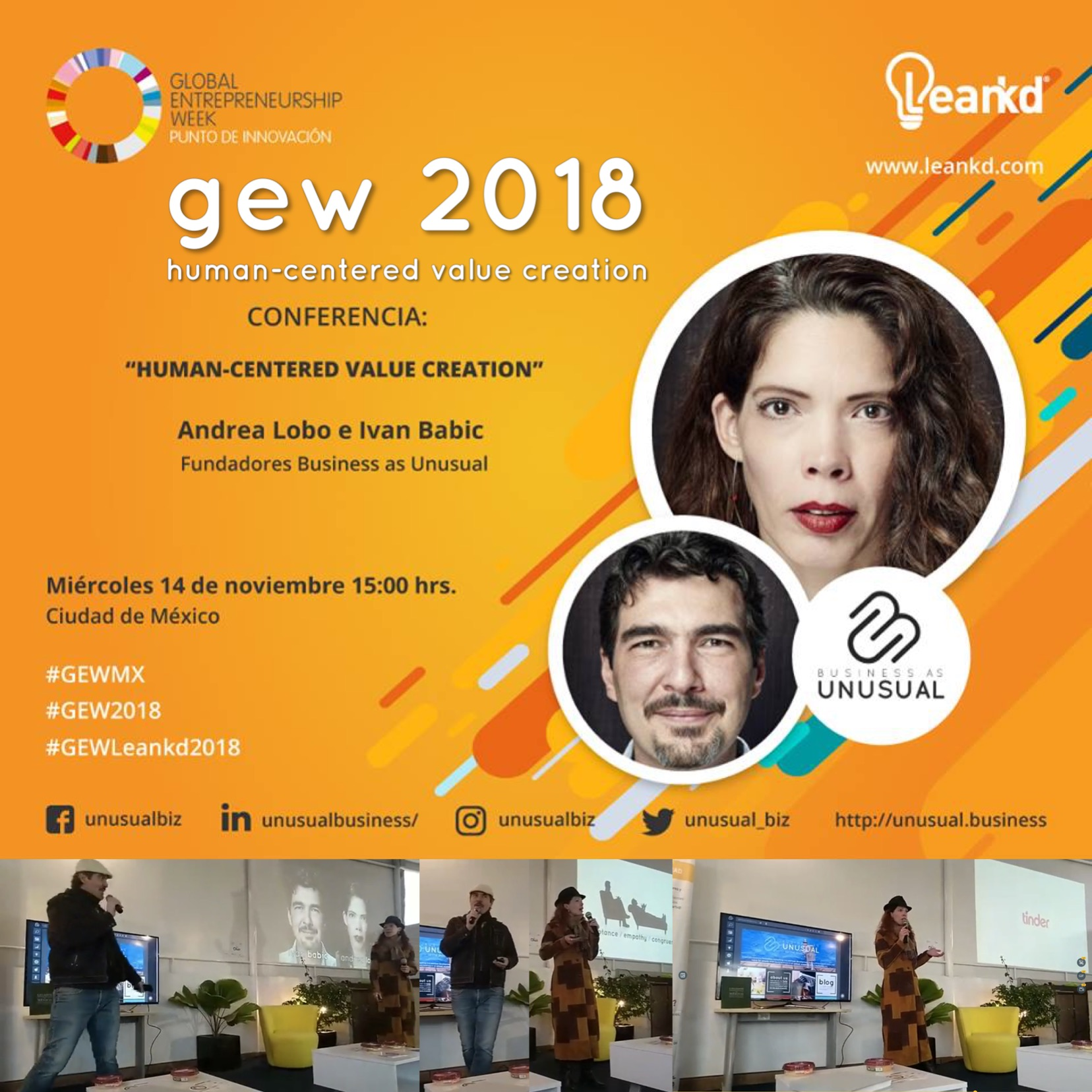 Global Entrepreneurship Week GEW 2018 - Human-Centered Value Creation