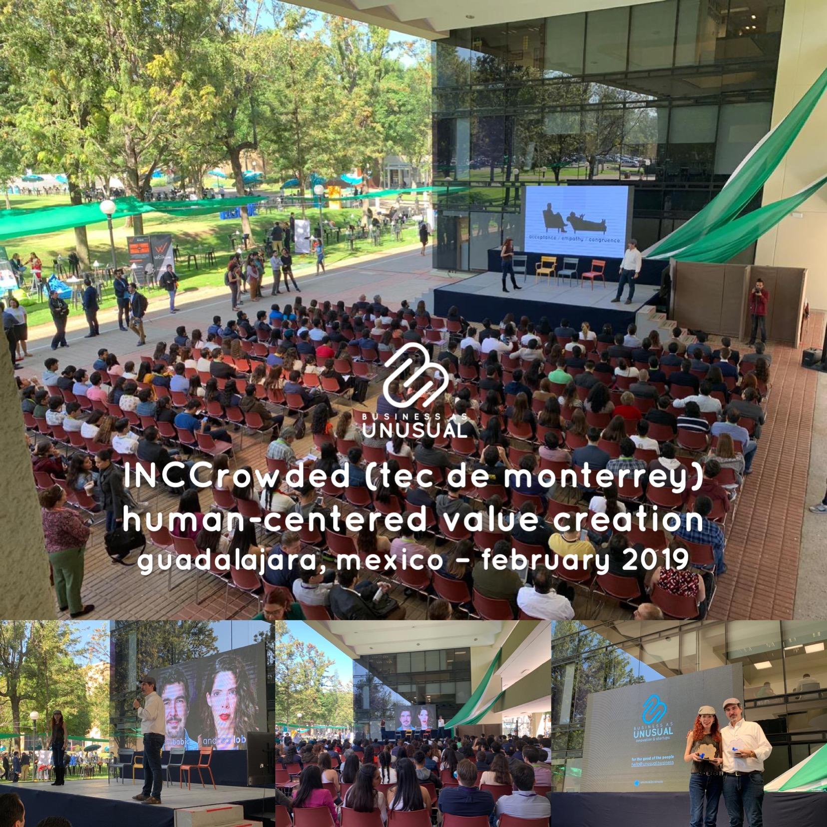 INC Crowded Tecnologico de Monterrey - Human Centered Value Creation - Guadalajara February 2019
